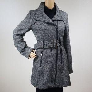 Rue21 grey wool trench coat with waist belt P1